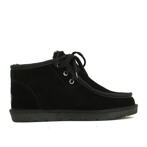 Dabbs Lace Up Man Ugg Boot - Black