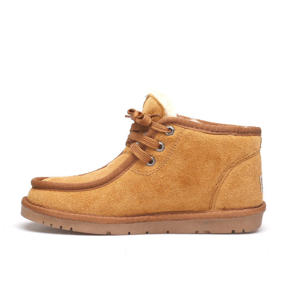 Dabbs Lace Up Man Ugg Boot - Chestnut