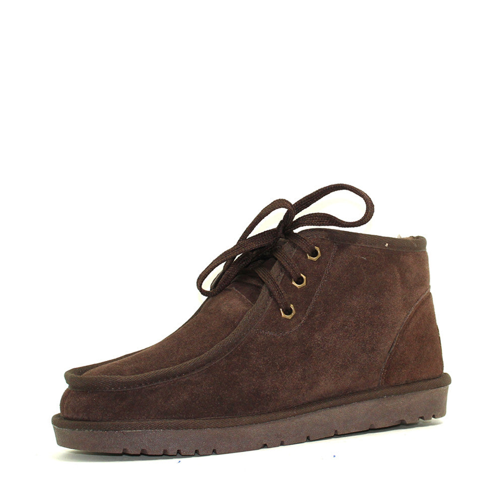Dabbs Lace Up Man Ugg Boot - Chocolate