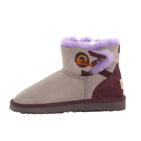Button Mini Ugg Boot - Chocolate