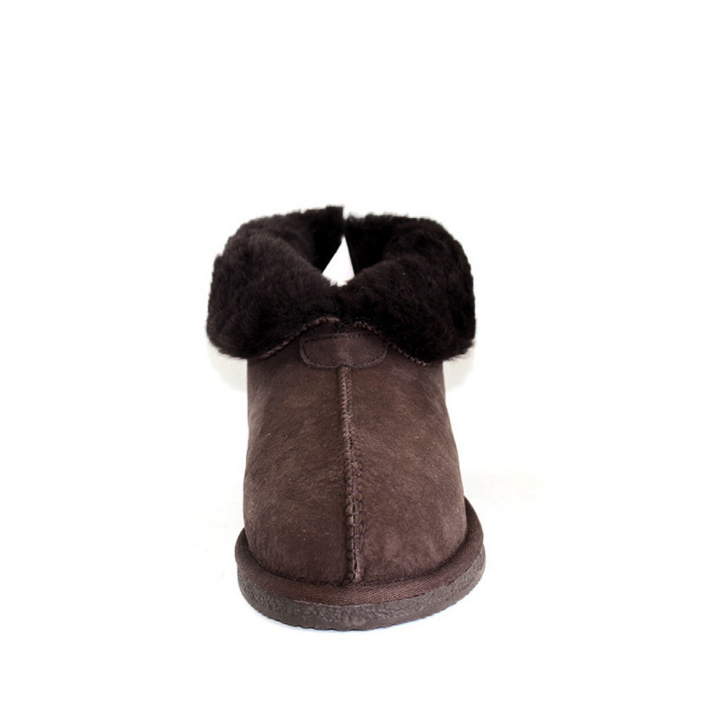 Sheepskin Ugg Slippers - Chocolate