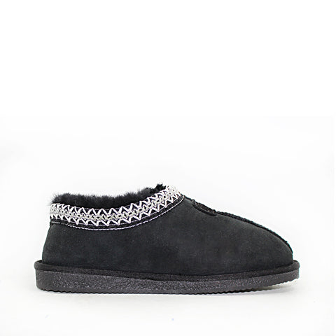Yani Sheepskin Ugg Slippers - Black