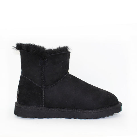 Classic One Button Ugg Boot - Black