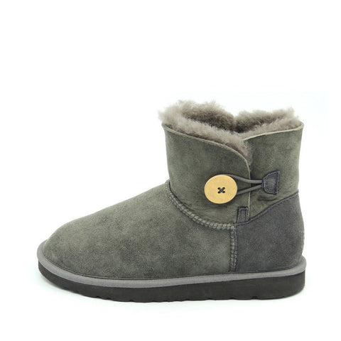 Classic One Button Ugg Boot - Grey