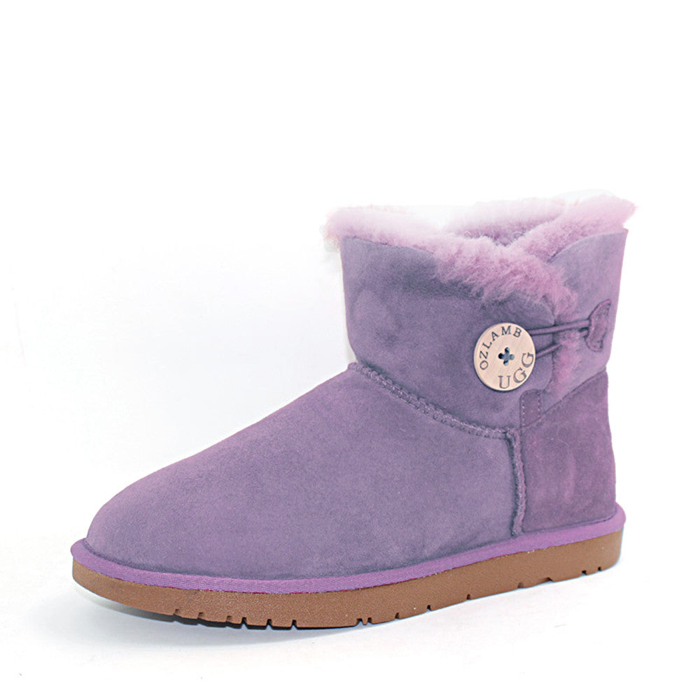 Classic One Button Ugg Boot - Purple