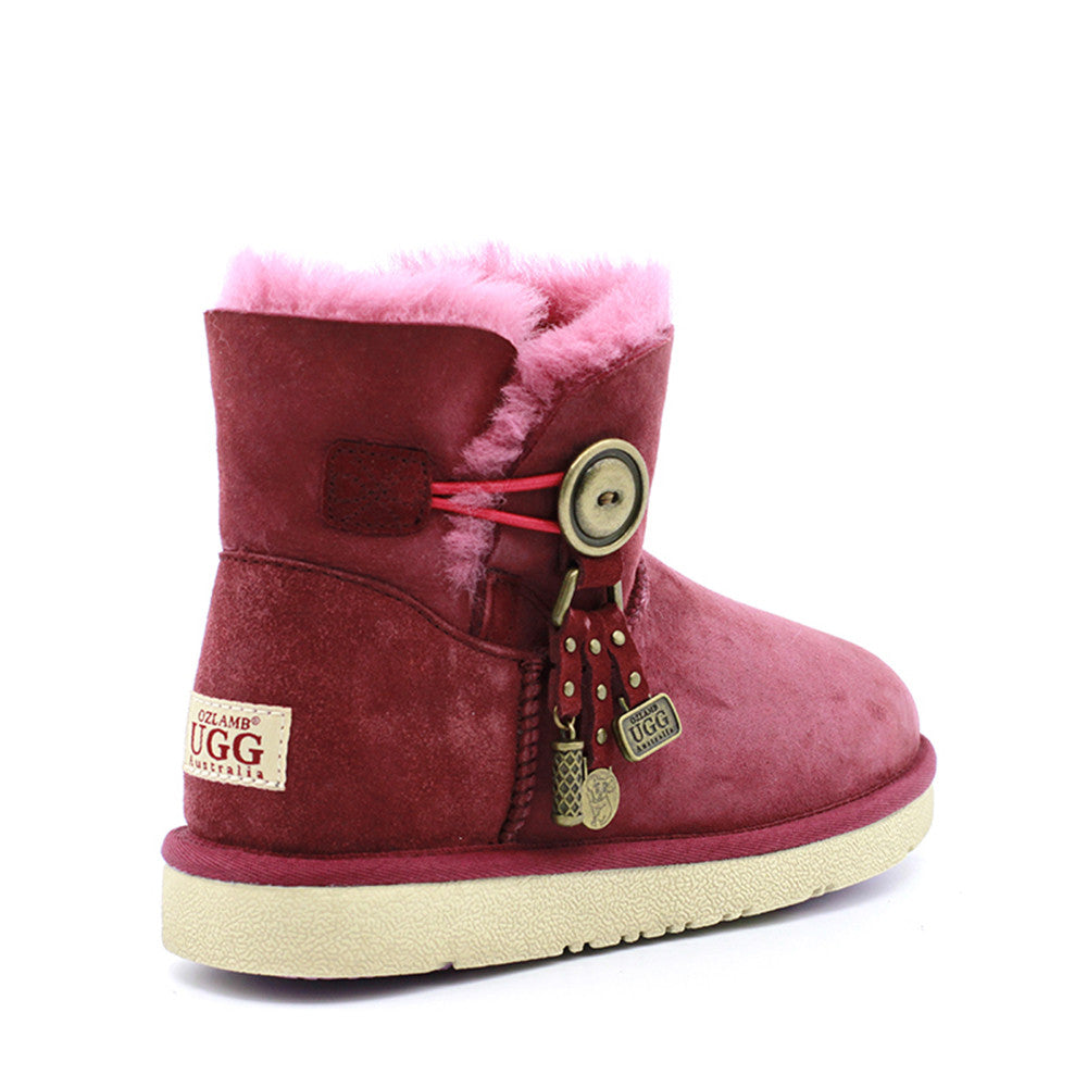 Kiki Ankle Ugg Boot - Wine Red