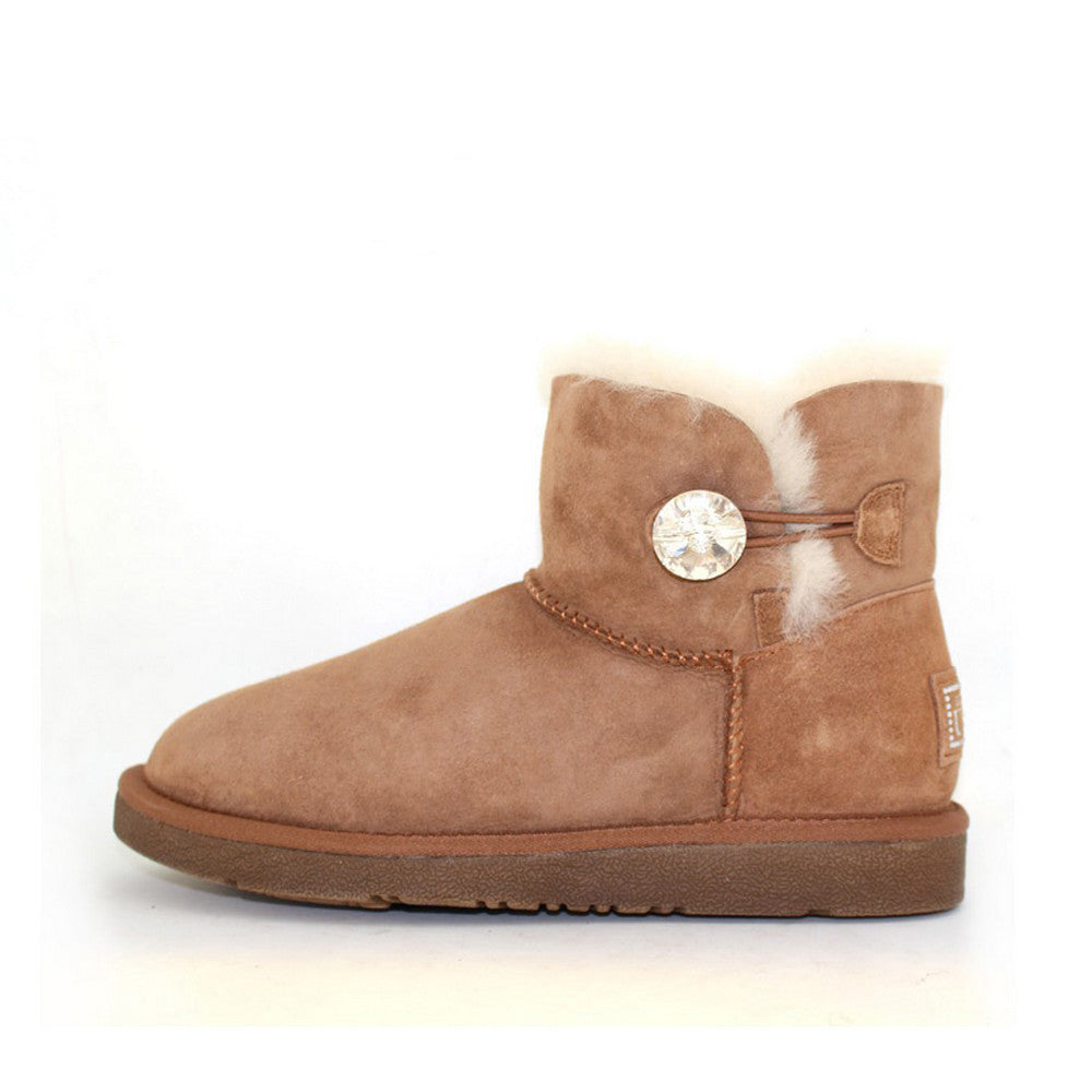 df0bb507027 Classic Crystal Button Ankle Ugg Boot - Chestnut