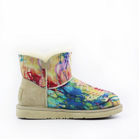 Kinsey Crystal Short Ugg Boot - Flower