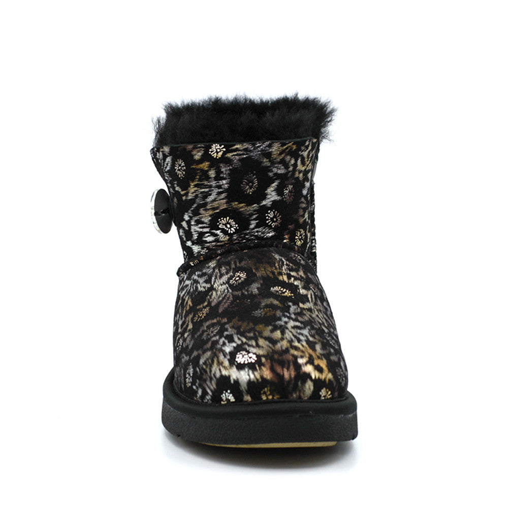 Farida Crystal Short Ugg Boot - Black