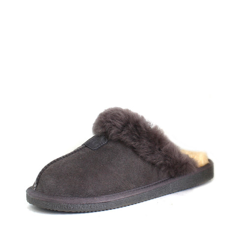 Sheepskin Wool Scuff - Grey