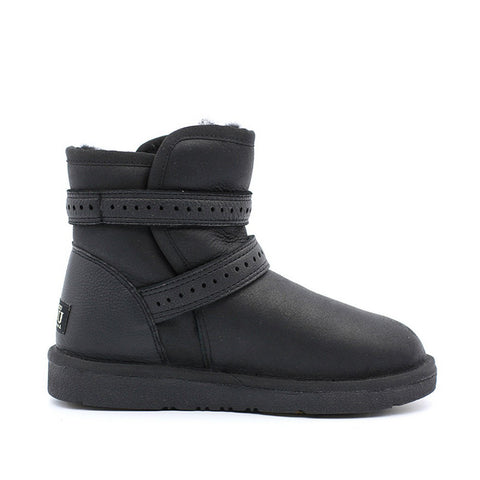 Jazz Buckle Short Ugg Boot - Black
