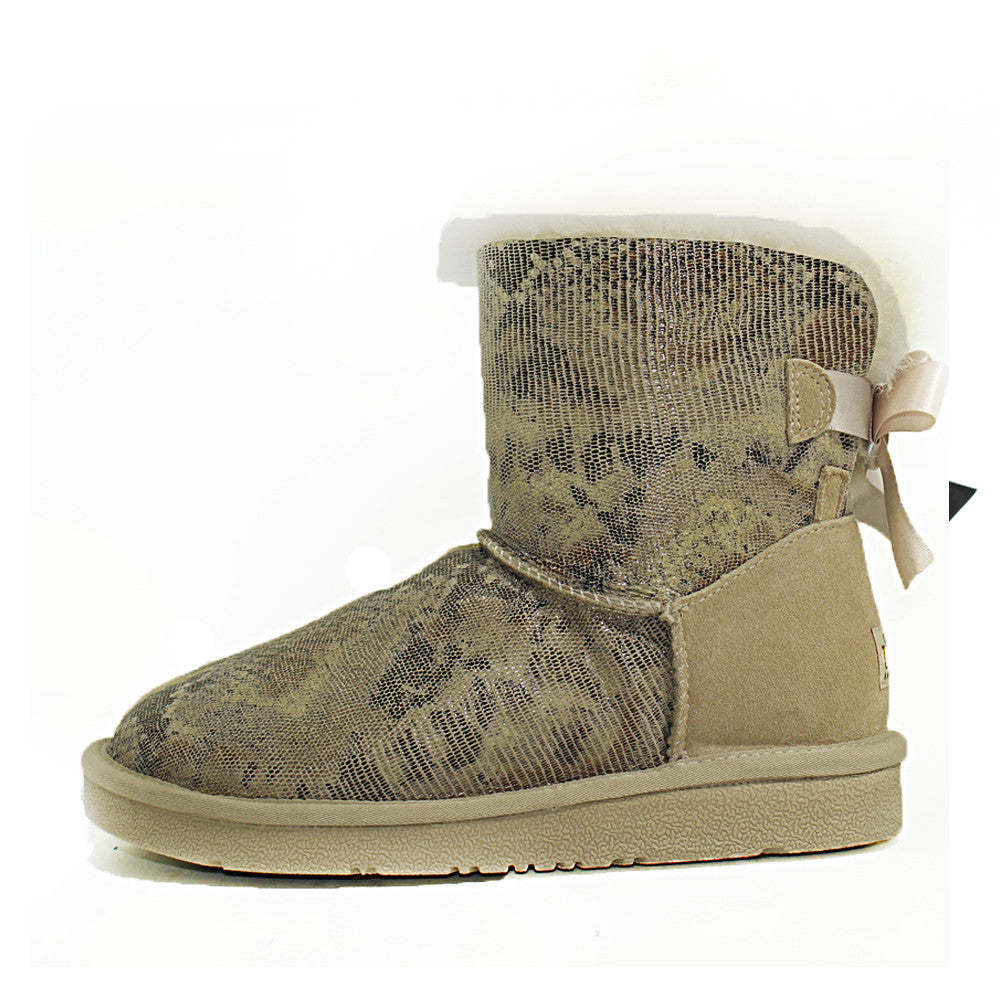 Fiona Back Bow Short Ugg Boot - Sand