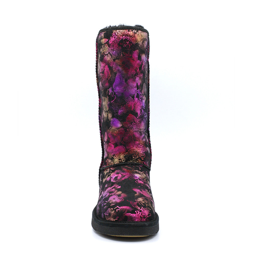 Wild Rose Tall Ugg Boot - Black