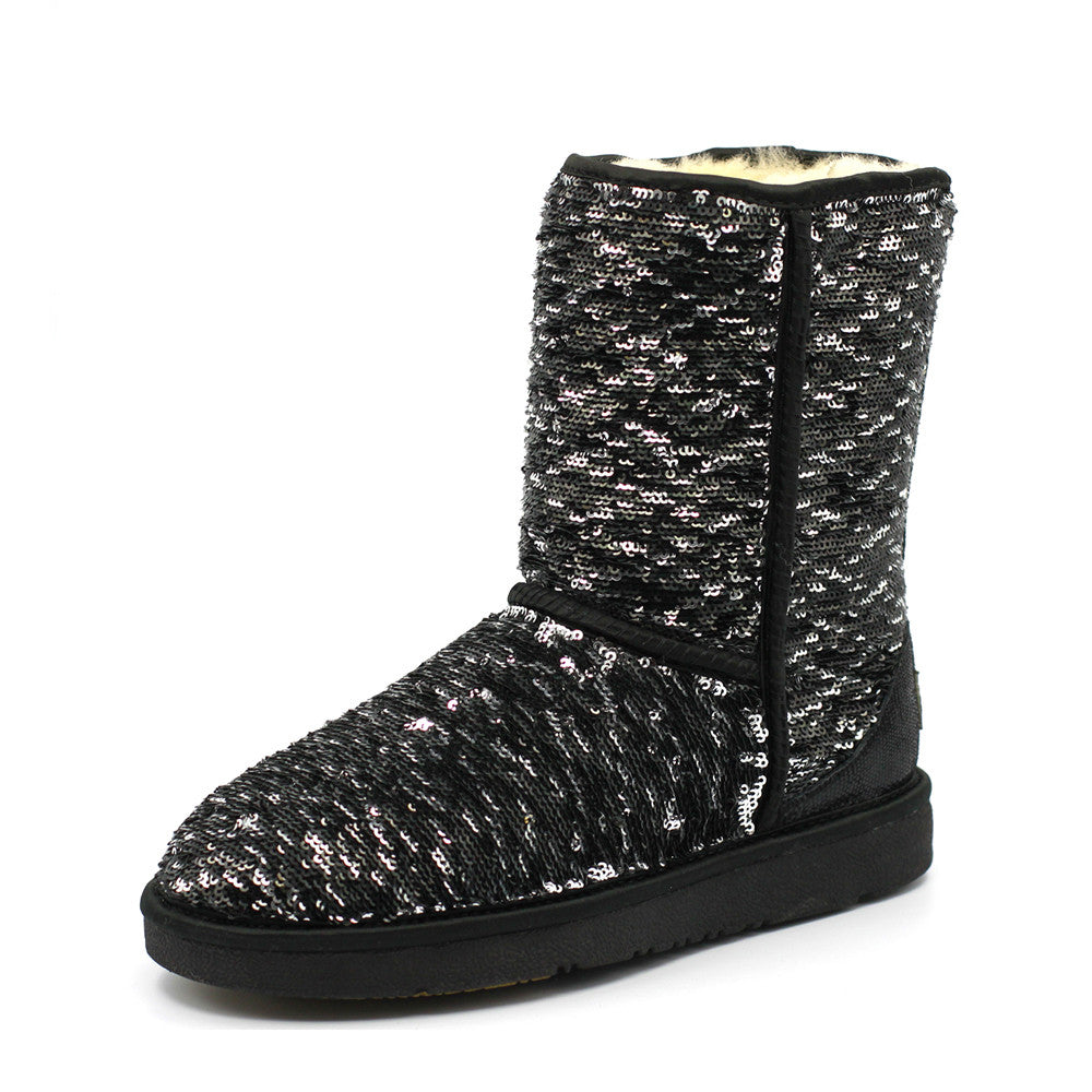 Sparkle Medium Ugg Boot - Black
