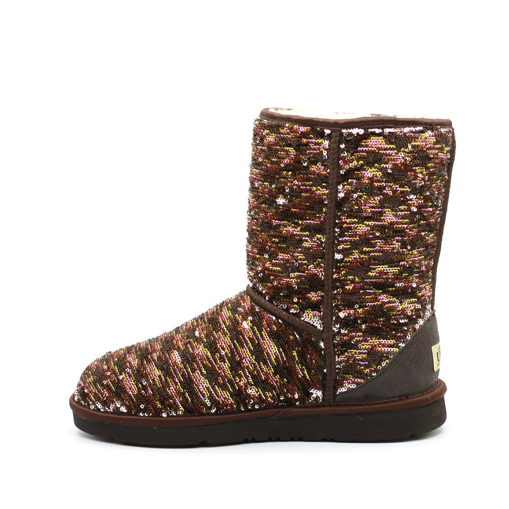 Sparkle Medium Ugg Boot - Mushroom