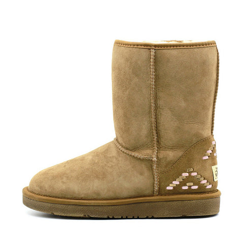 Geometric Medium Ugg Boot - Chestnut