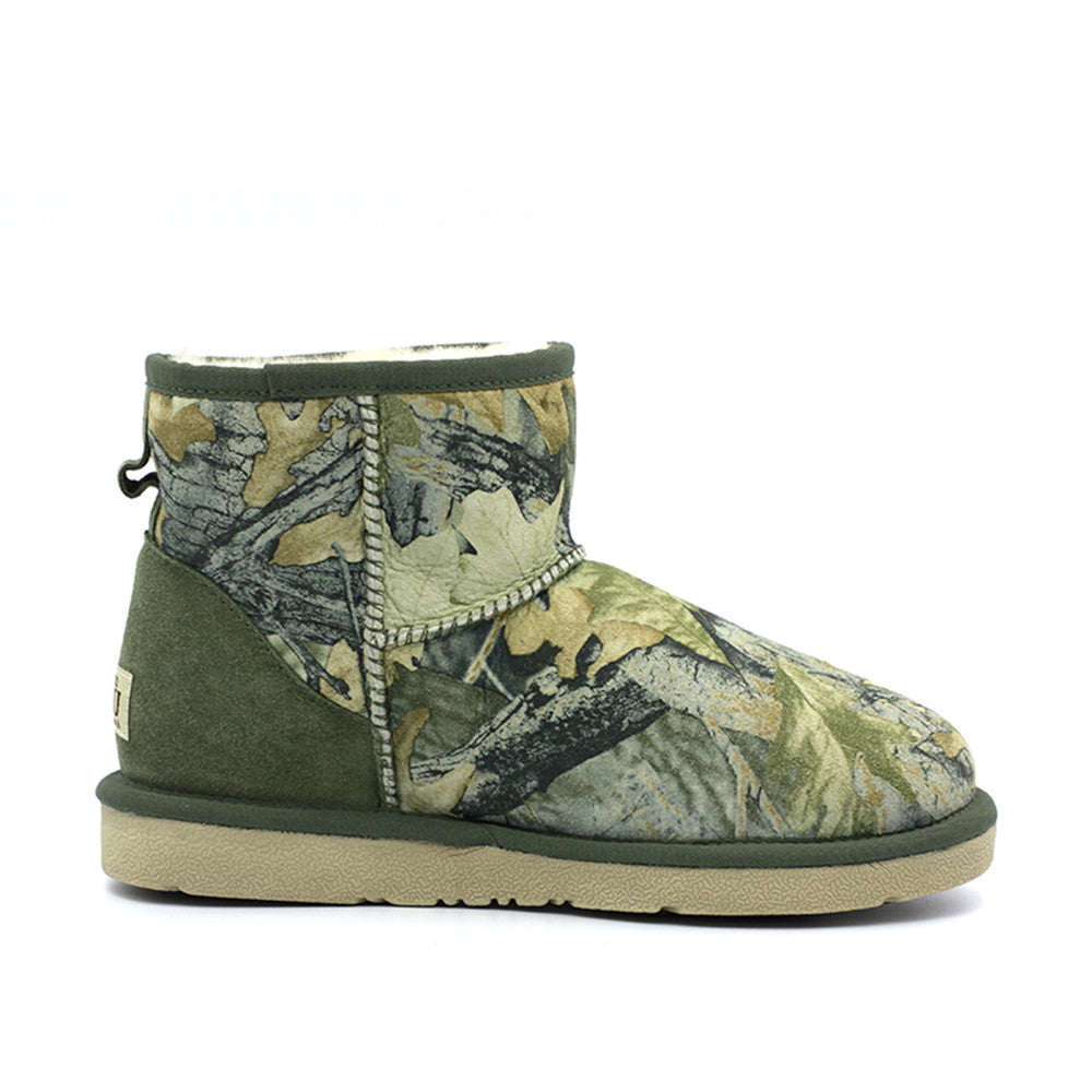 Leafy Short Ugg Boot - Green