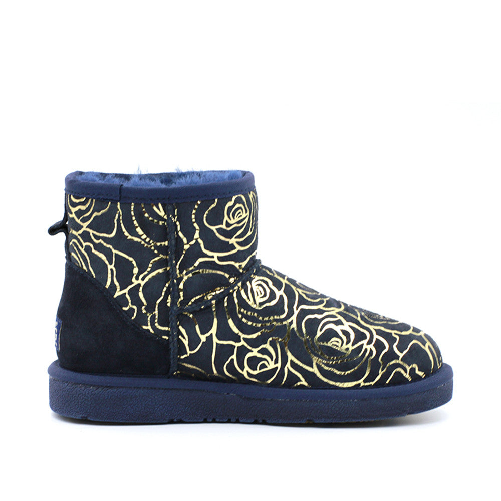 Rosy Short Ugg Boot - Navy