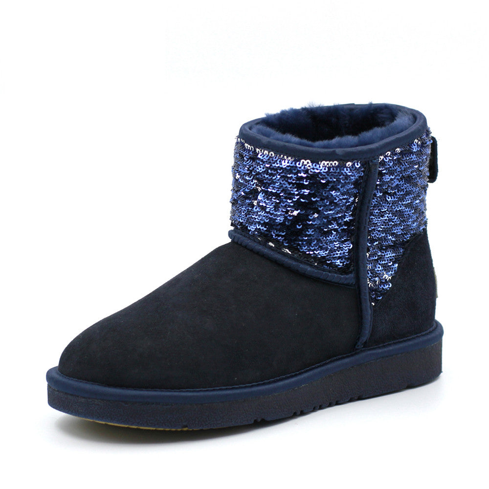 Sparkle Short Ugg Boot - Navy