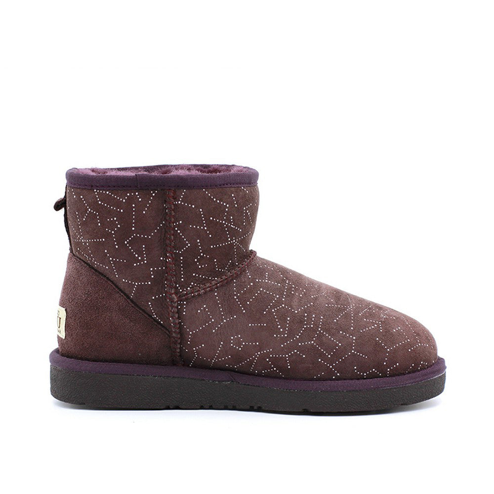 Starsky Short Ugg Boot - Wine Red
