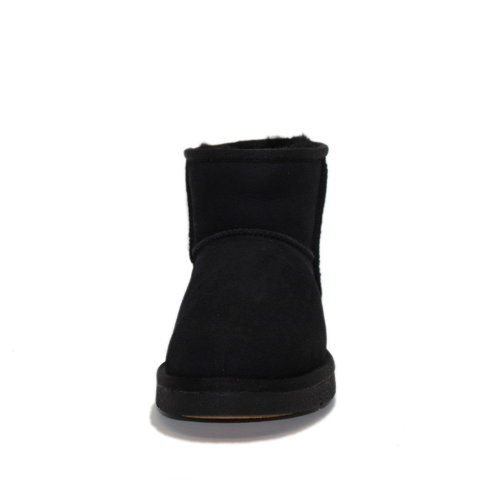 Geometric Short Ugg Boot - Black