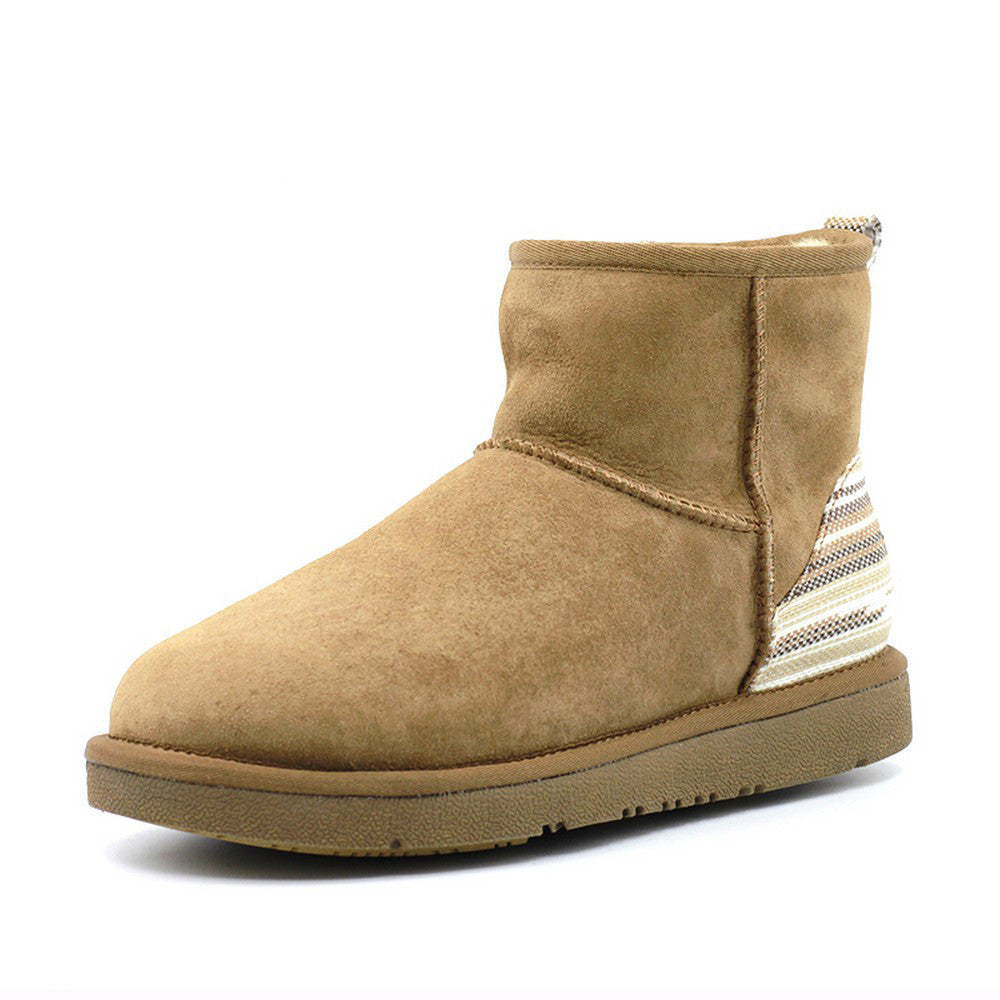 Serape Short Ugg Boot - Chestnut