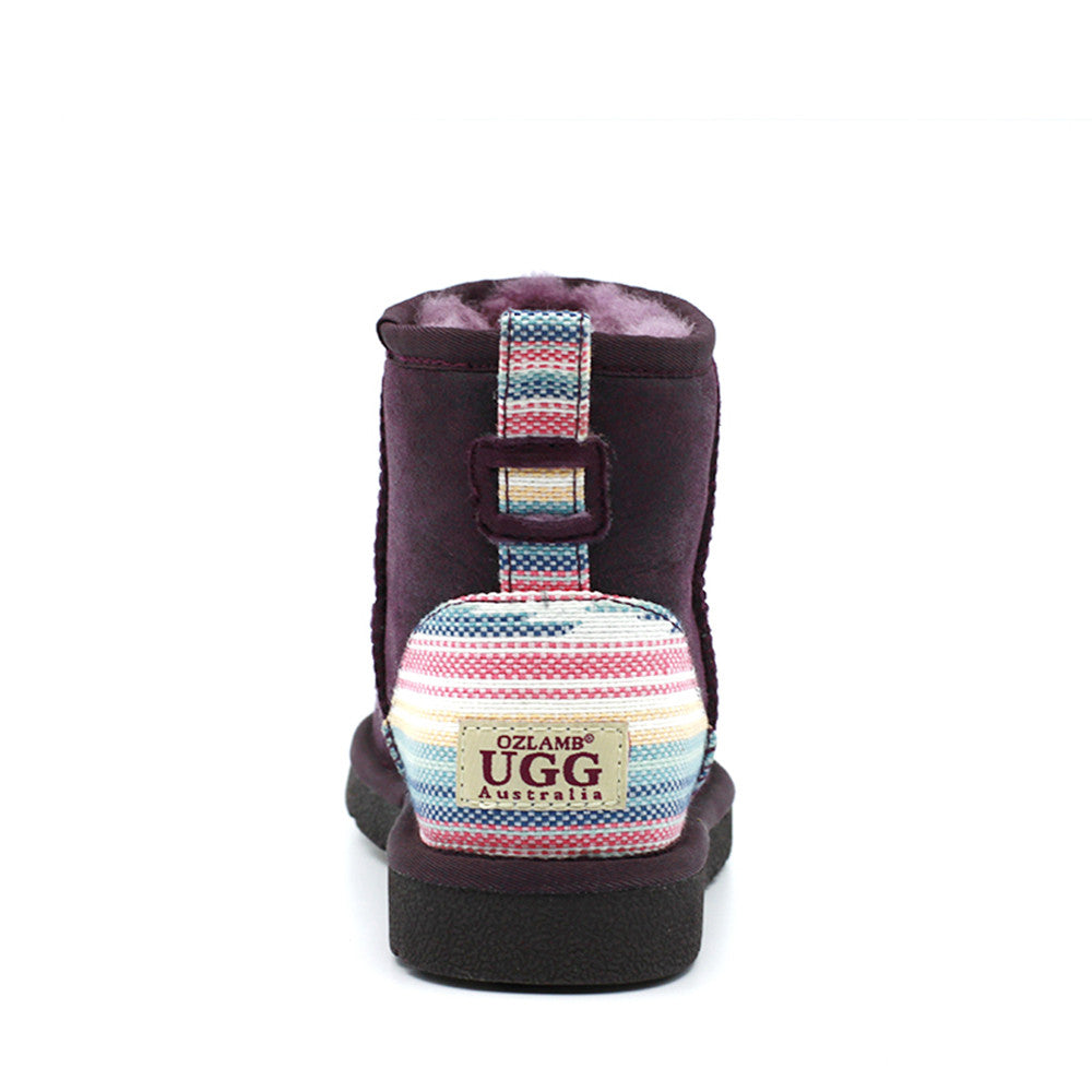 Serape Short Ugg Boot - Purple