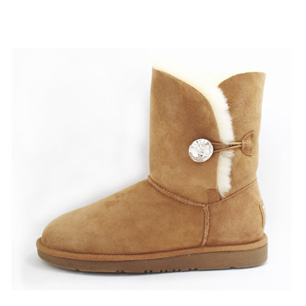 Crystal Medium Ugg Boot - Chestnut