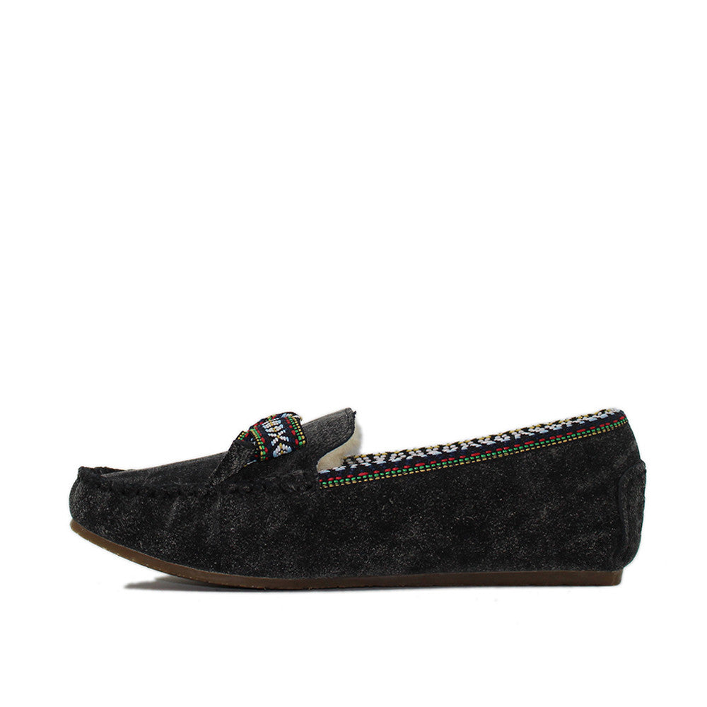 Rianna Moccasin - Black
