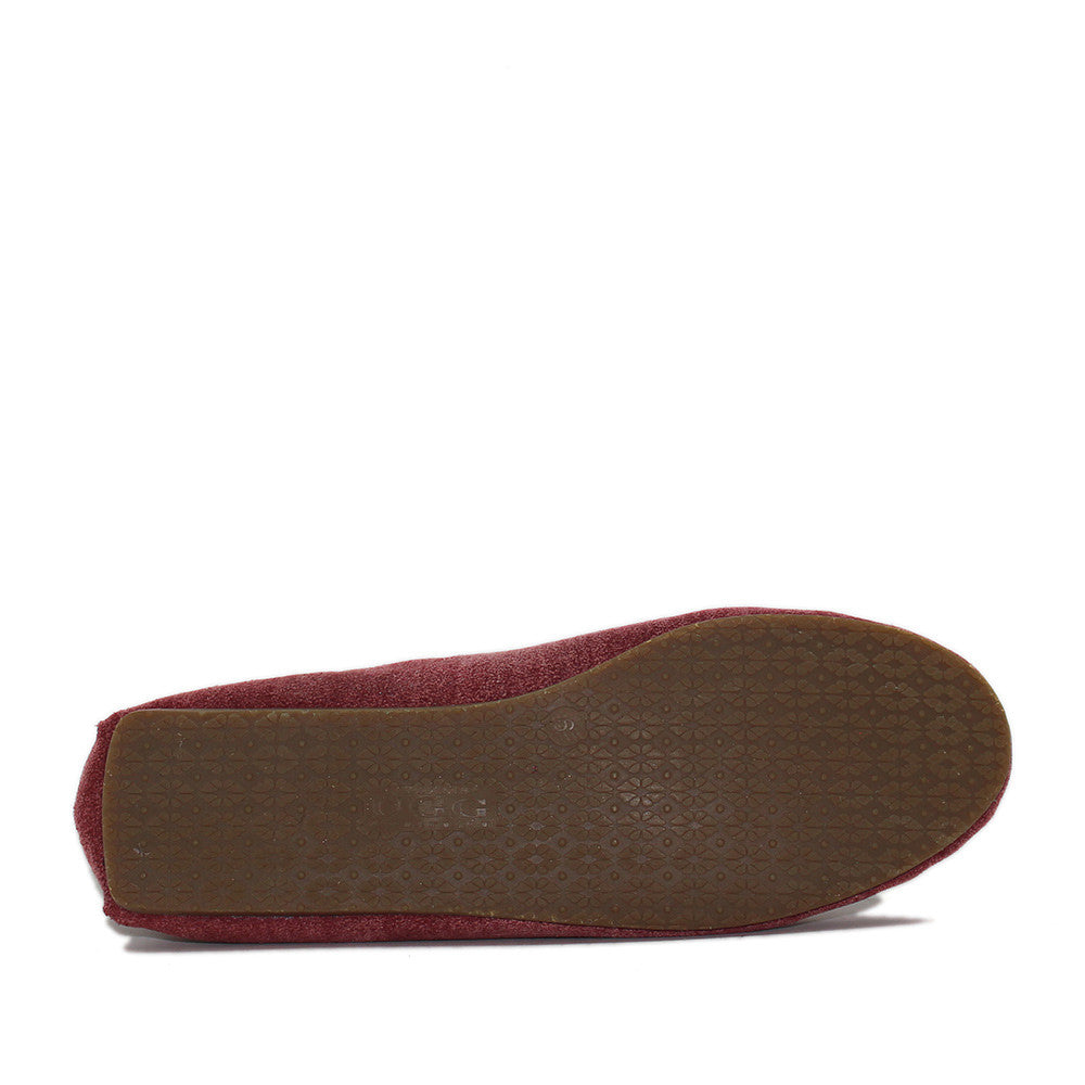 Rianna Moccasin - Wine Red