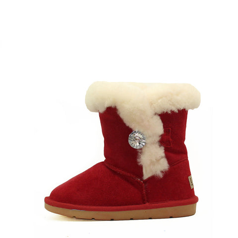 Tara Crystal Kids Boot - Red