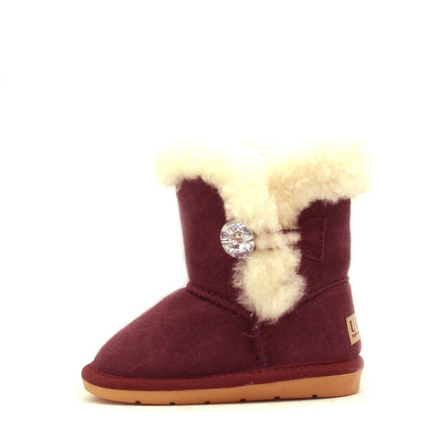 Tara Crystal Kids Boot - Cherry