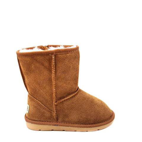 Stax Side Zip Kids Boot - Chestnut