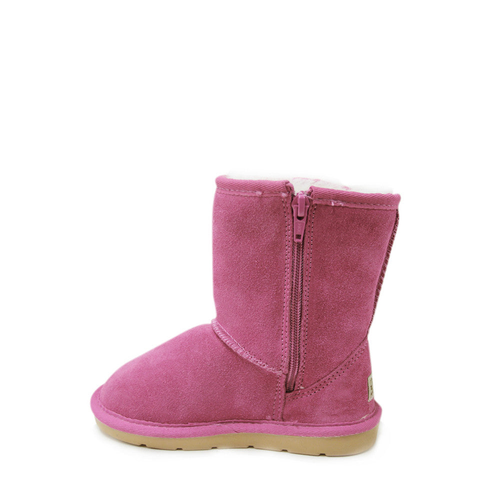 Stax Side Zip Kids Boot - Rose