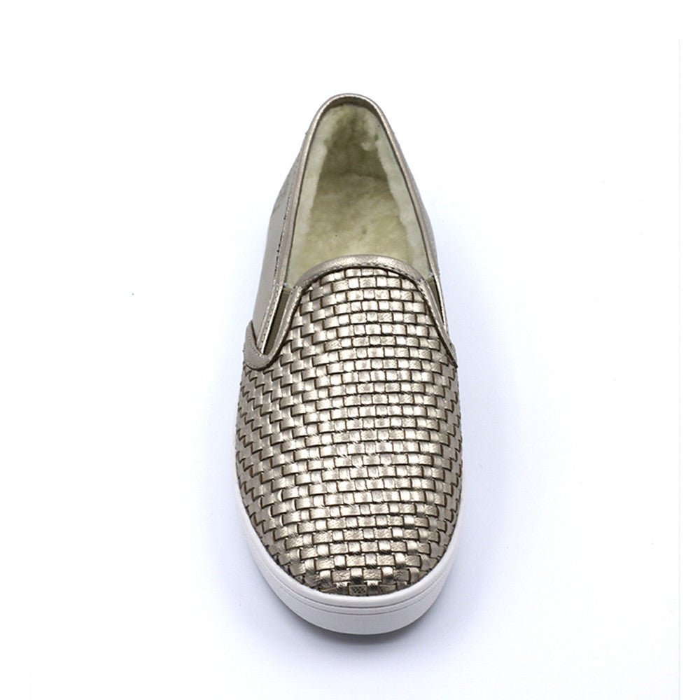 Urban Thatch Wool Loafer - Gold