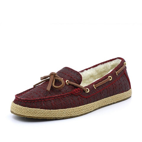 Foxtrot Deck Shoes - Wine Red