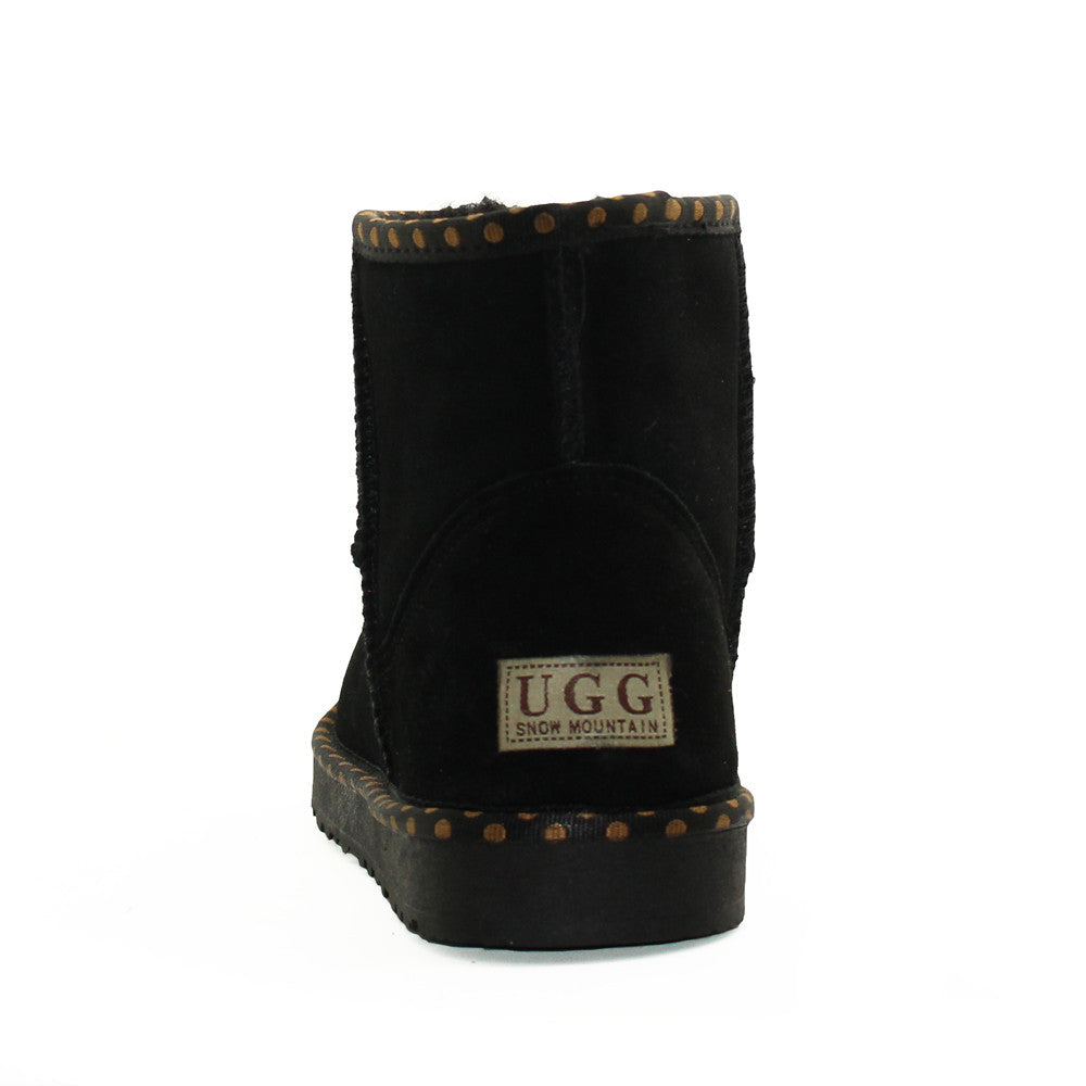 Spotted Ankle Ugg Boot - Black