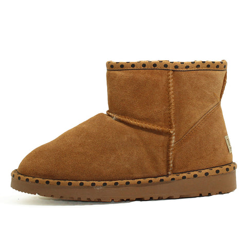 Spotted Ankle Ugg Boot - Chestnut