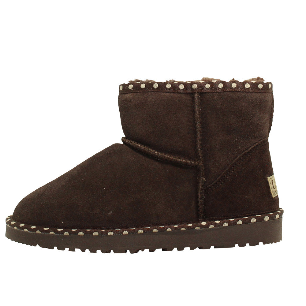 Spotted Ankle Ugg Boot - Chocolate