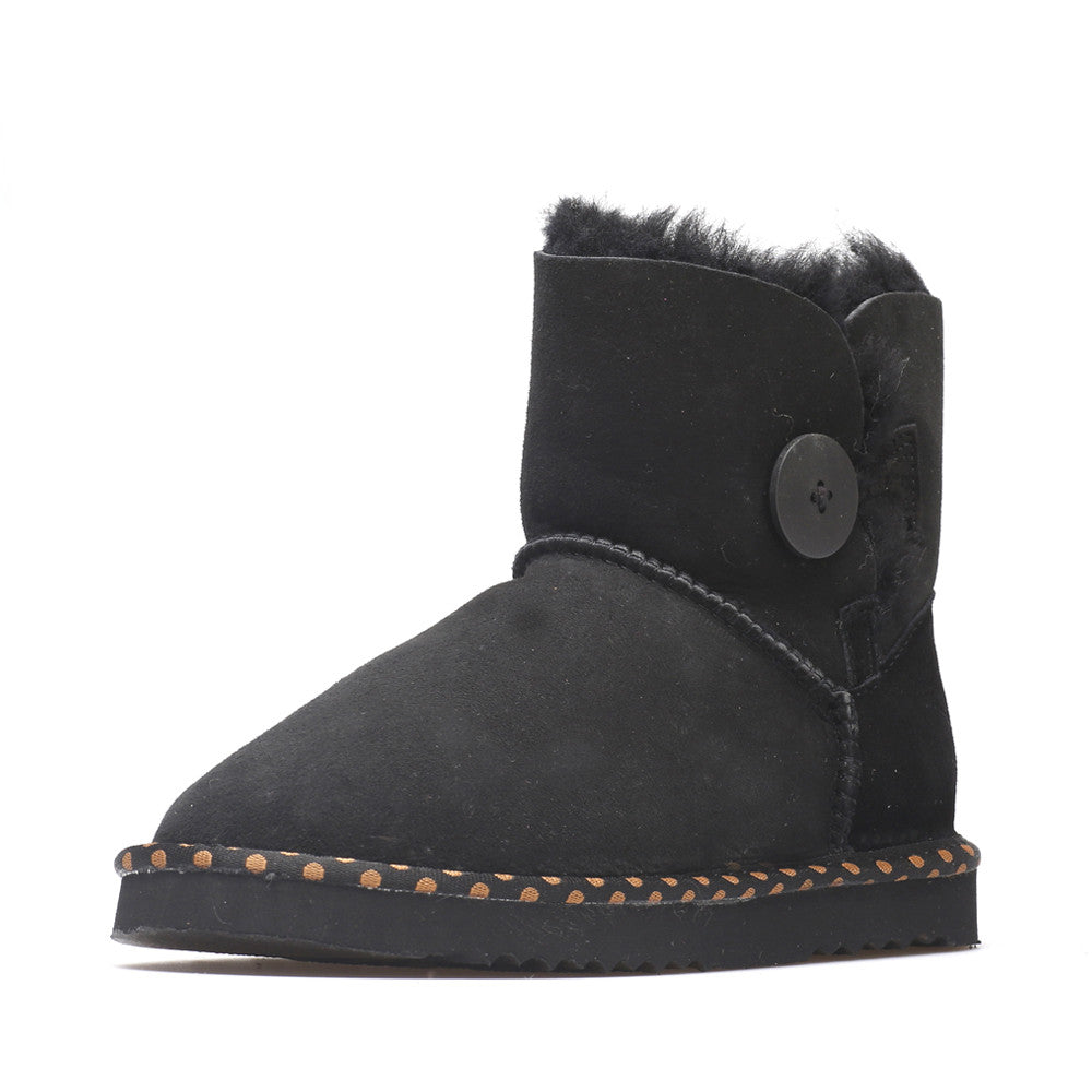 9b5699d3084 Spotted One Button Ugg Boot - Black