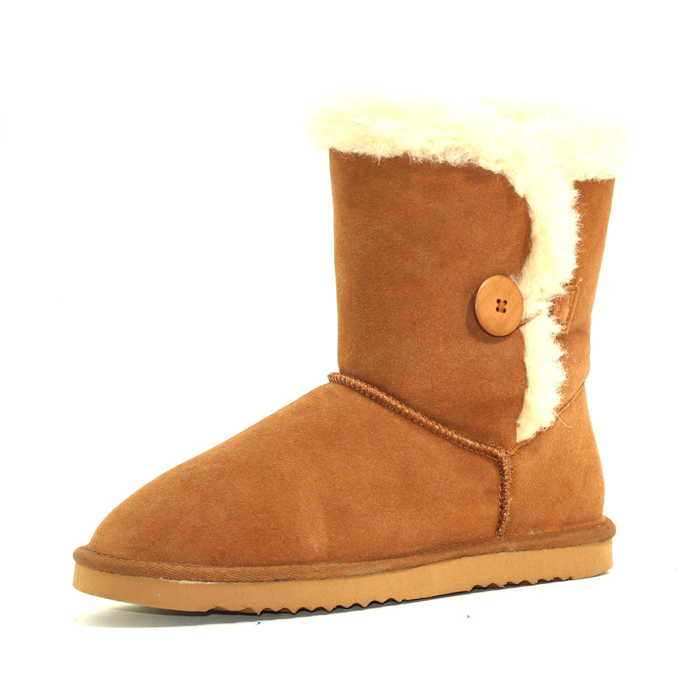 Cow Suite Sheepwool Boot - Chestnut