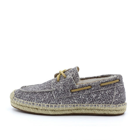 Slater Wool Boat Shoes for Him - White Grey