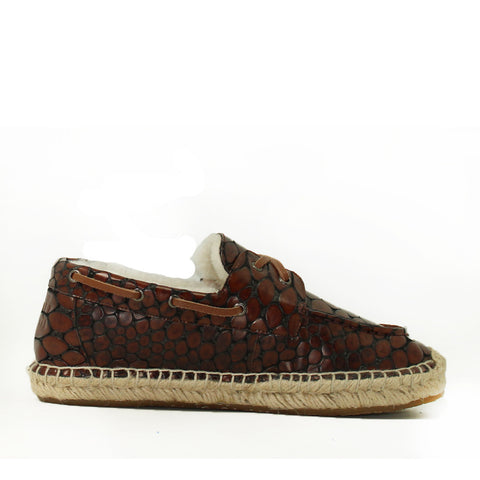 Costa Rica Croc Boat Shoes for Him - Croc Brown