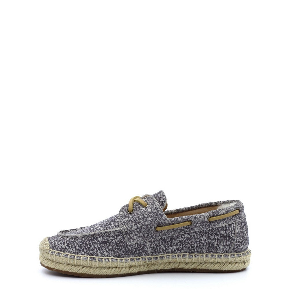 Slater Boat Shoes - White Grey
