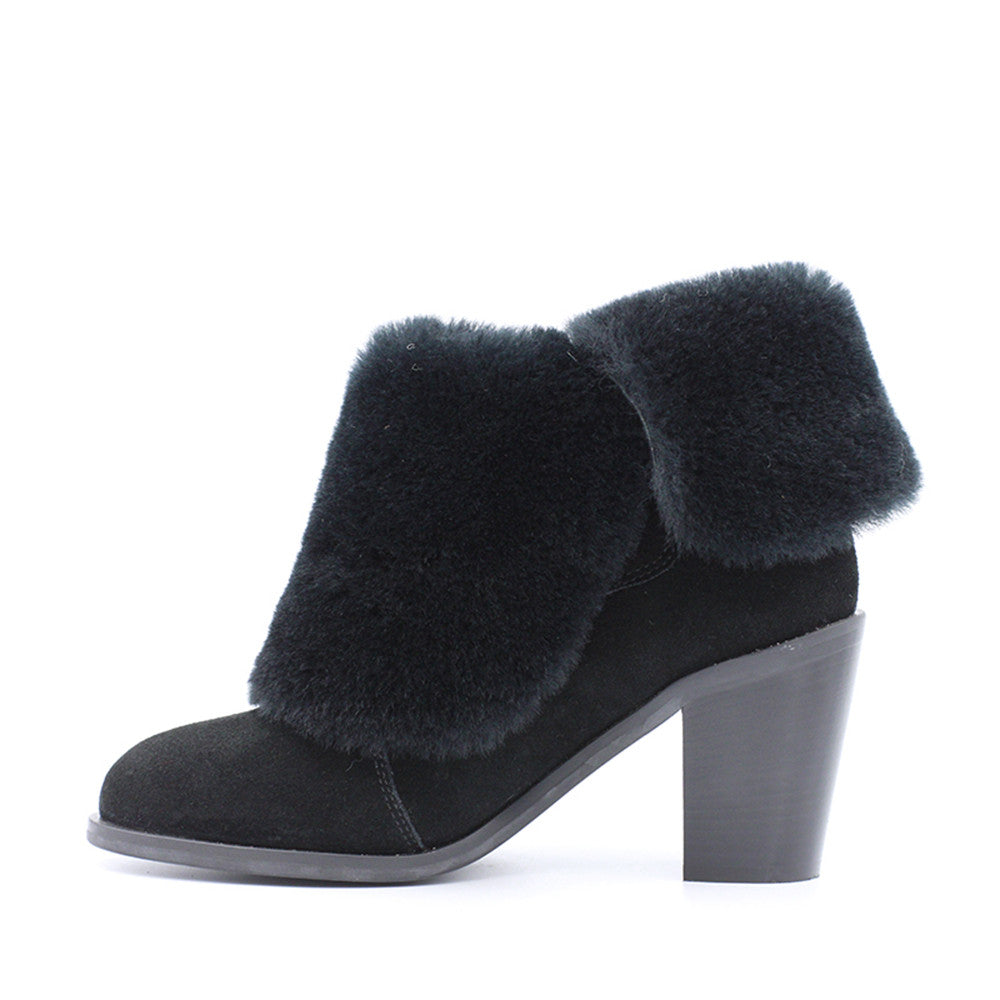 Shaina Fur Boot - Black