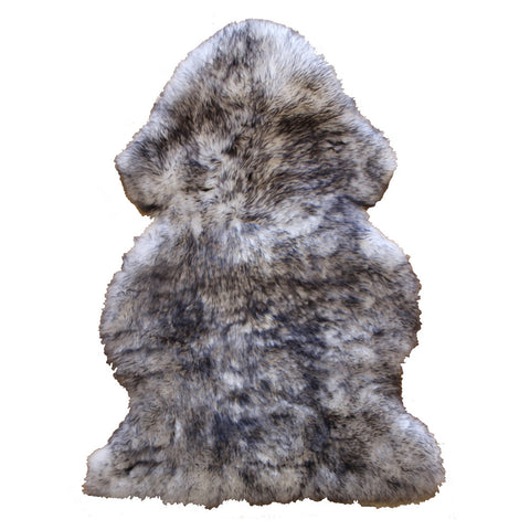 Natural Sheepskin Rug - Grey/White