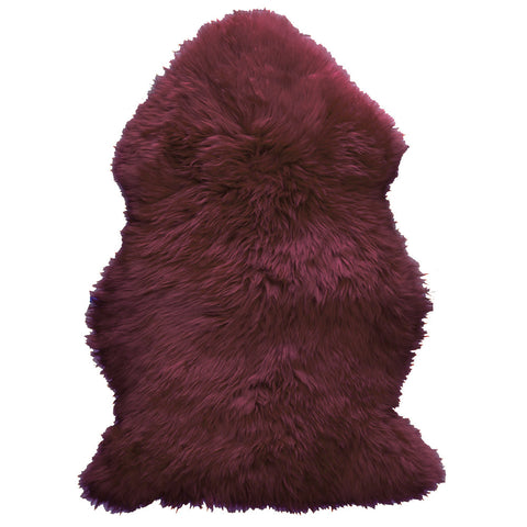 Natural Sheepskin Rug - Purple