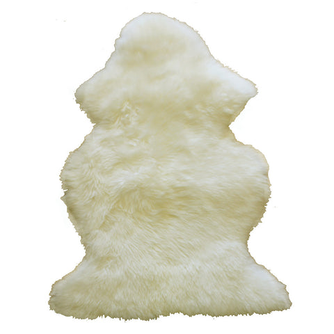 Natural Sheepskin Rug - White