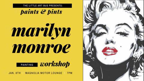 Paints and Pints: Marilyn Monroe