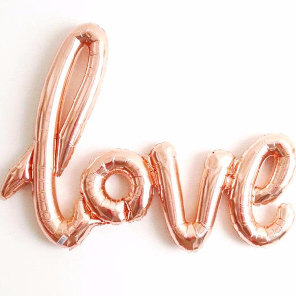 """LOVE"" letter balloon - no helium"